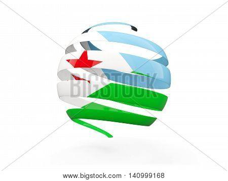 Flag Of Djibouti, Round Icon