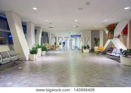 KUALA LUMPUR, MALAYSIA - CIRCA MAY, 2016: inside of Kuala Lumpur International Airport. Kuala Lumpur International Airport (KLIA) is Malaysia's main international airport