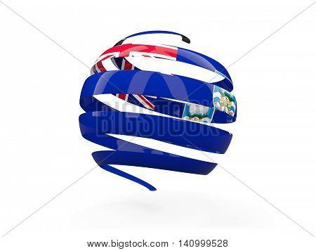 Flag Of Falkland Islands, Round Icon