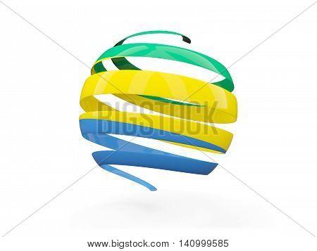 Flag Of Gabon, Round Icon