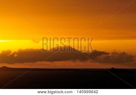 Glare Of A Sunset