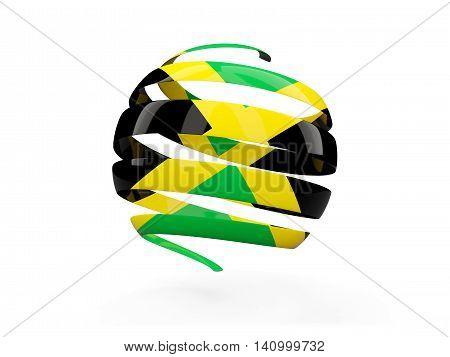 Flag Of Jamaica, Round Icon