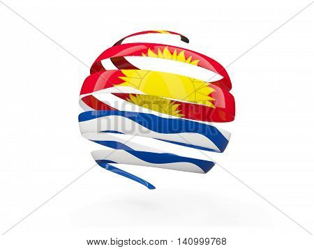 Flag Of Kiribati, Round Icon