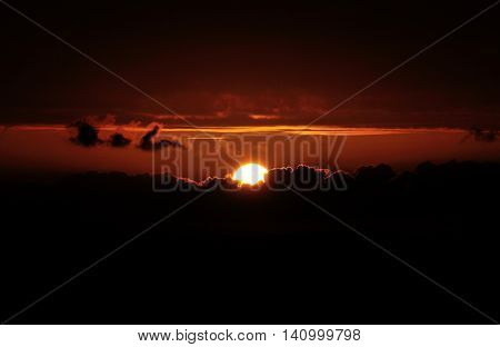 Sunset And Dark Cloud