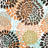 Seamless vector floral pattern.