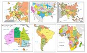 picture of political map  - Political map of continents - JPG
