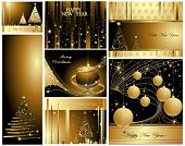 picture of seasons greetings  - Merry Christmas and Happy New Year collection - JPG