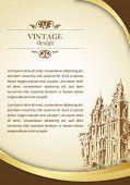 Постер, плакат: старинный город плакат