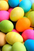 image of easter-eggs  - Colorful Easter Eggs - JPG