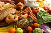 pic of food groups  - Food background - JPG