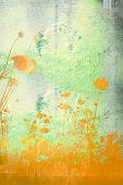 Постер, плакат: цветок абстрактные текстуры и обои