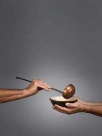 picture of stewardship  - man holding a bowl in both hands - JPG