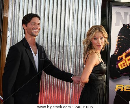 LOS ANGELES - OCT 2:  Jason Behr, KaDee Strickland arriving at the