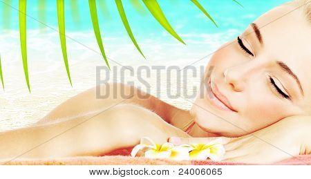 Enjoying Spa Beach Resort