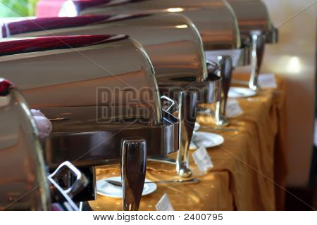 Chafing Dish At Buffet