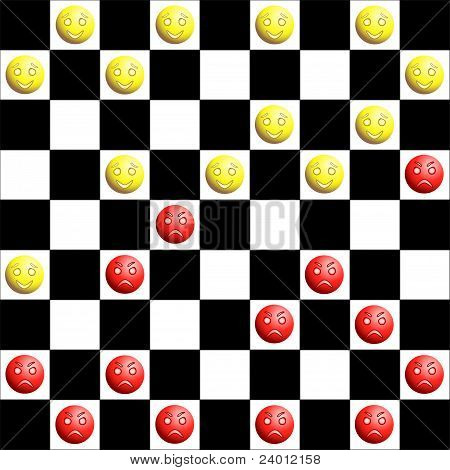 Red and yellow checkers