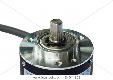 Closeup Of Rotary Encoder