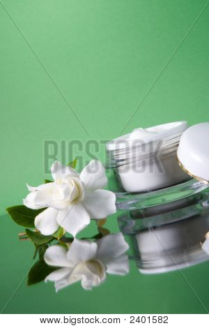 Face Cream And Gardenias