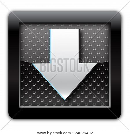 Arrow metal icon