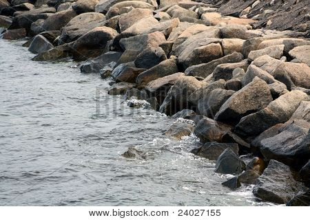 Rocks On A Sea Shore