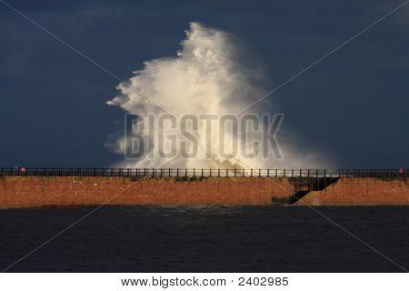 Un muro de agua