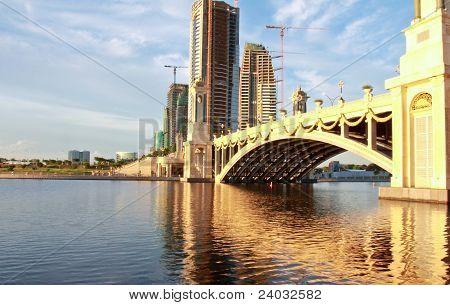 bridge and its mirror image