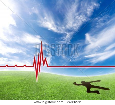 Cardiac Problems With Man Smashing A Hole In The Ground.