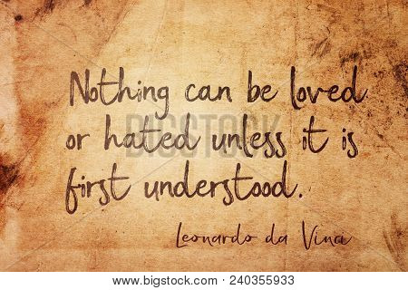 Nothing Can Be Loved Or
