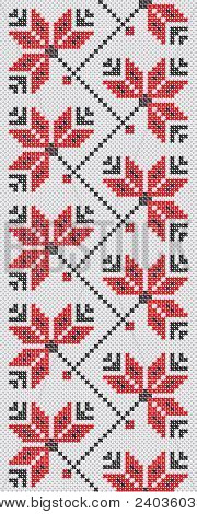 Ukrainian Embroidery Flowers Red And Black