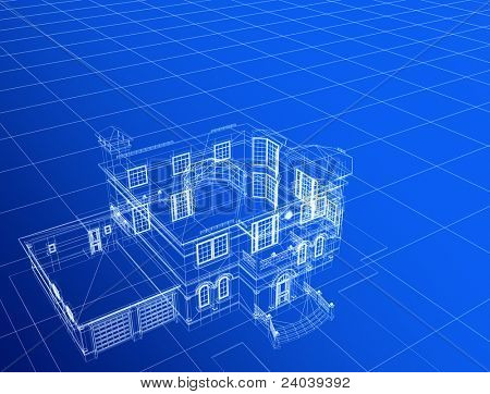 processed model of the building in 3D