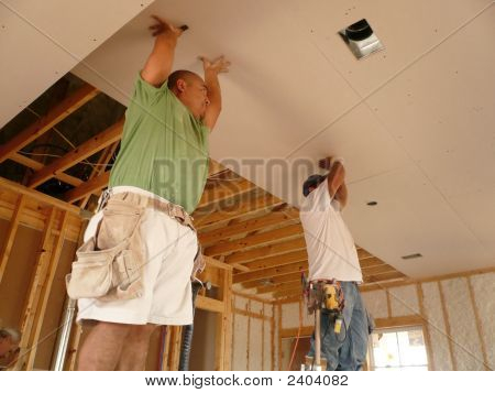 Holding Up The Ceiling Sheetrock