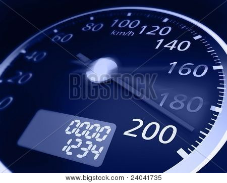 3D Tachometer. Hallo Res rendern. realistische Version.