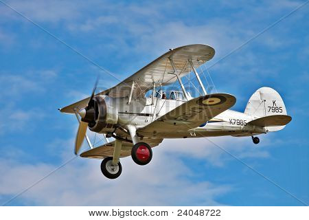 Old military biplane