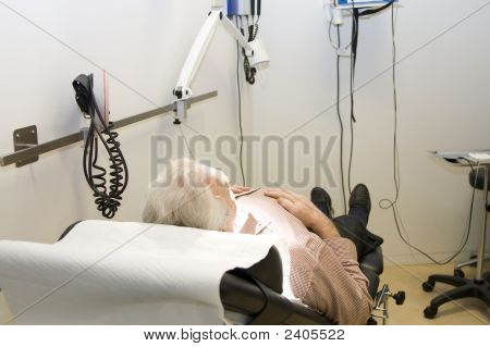Male Patient Waiting For Treatment