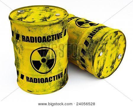radioactive barrels