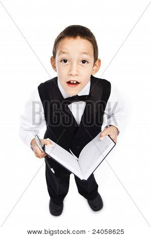 Boy Holding Pen And Book