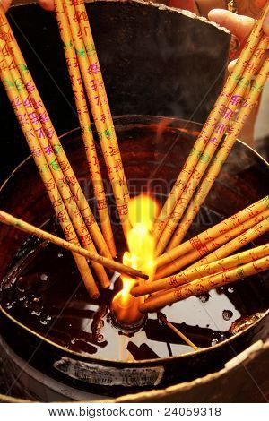 Incense in Chinese festival
