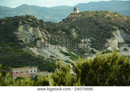 Arquitetura antiga na Sardenha - Itália