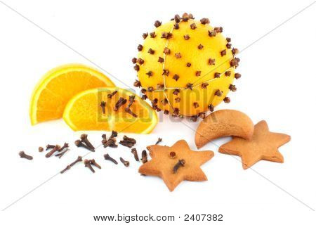 Pomander And Gingerbreads In The Form Of Stars
