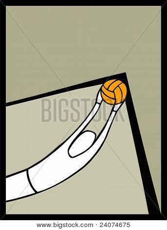 Soccer Goalkeeper Catching A Shot