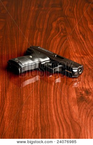 Handgun Wood Surface