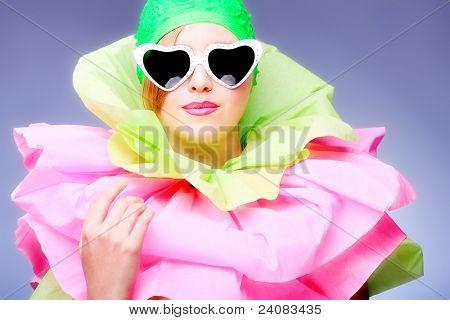 Fashion shot of an extravagant model.
