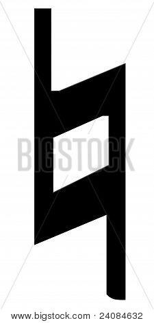 Bekar, un símbolo de la música sobre un fondo blanco