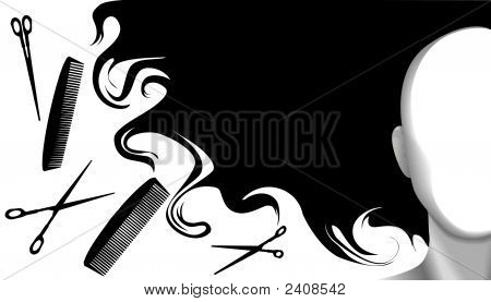 Hair Style Beauty Background