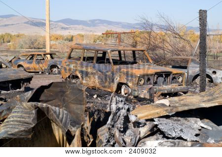 Vehicles After A Fire