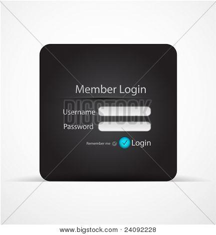 Vector login page