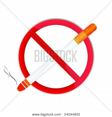 No Smoking Sign Illustration
