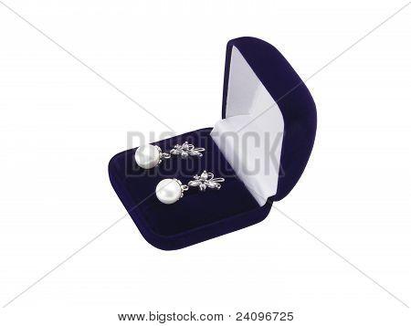 Earrings In A Gift Box