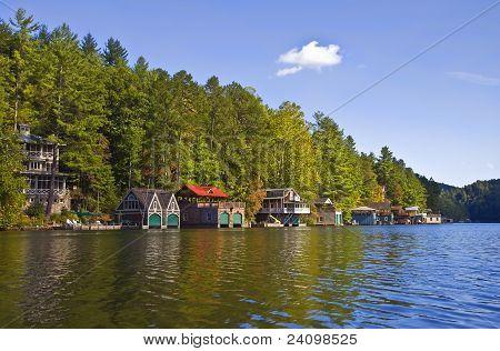 Beautiful Lake Shoreline View