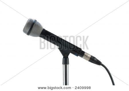 Dynamic Microphone Isolated On White With Clipping Path